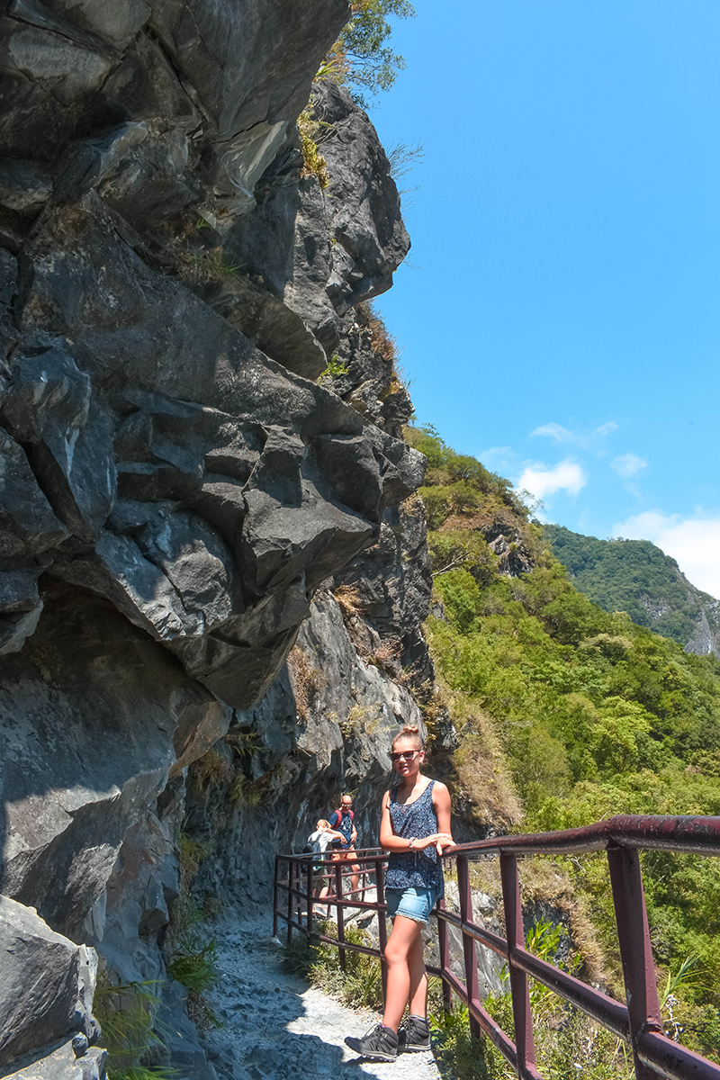 Lushui trail with kids Taroko Gorge National Park