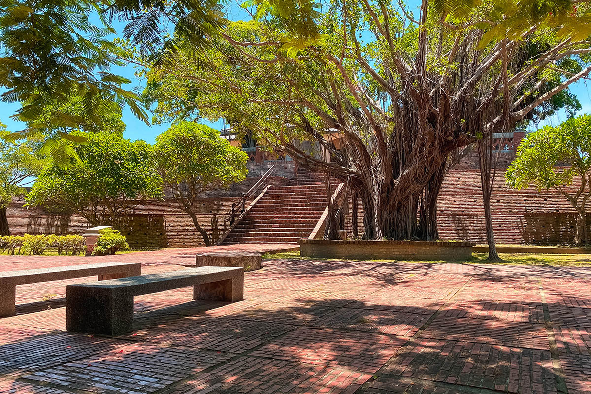 Anping Olf Fort outside area Tainan Taiwan