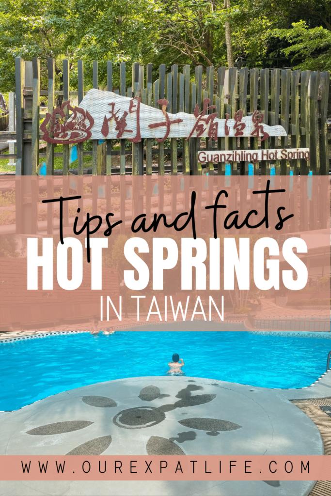 Pinterest pin Hot Springs Taiwan