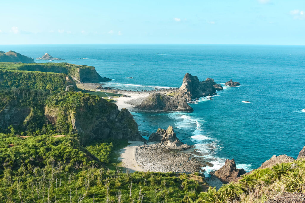 View on the coast of Green Island Taiwan