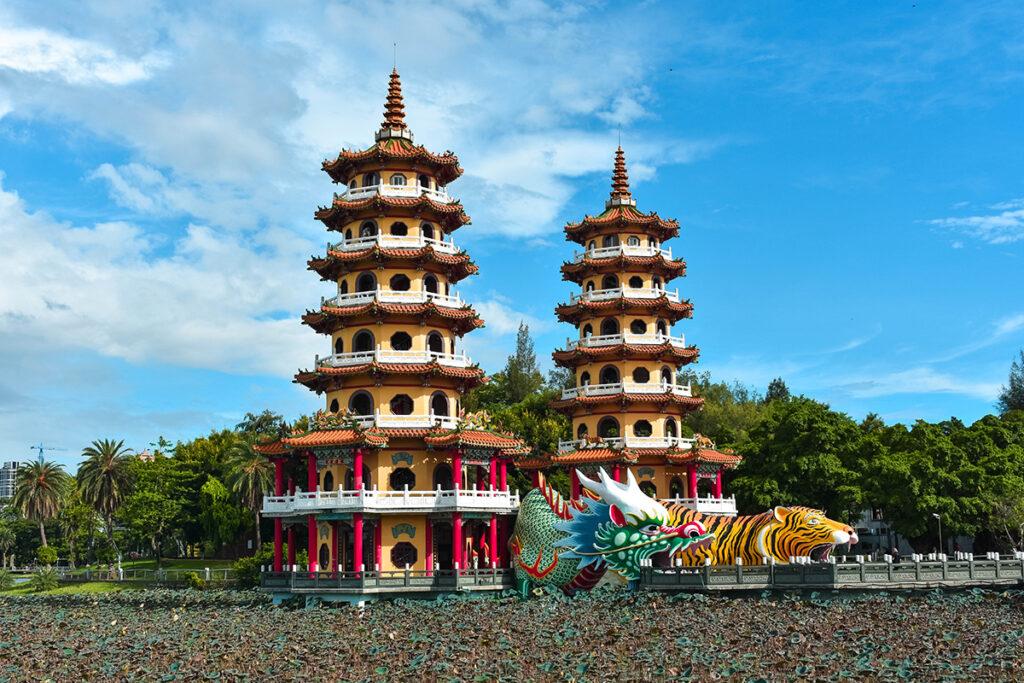 Dragon and Tiger Pagodas in Kaohsiung Taiwan